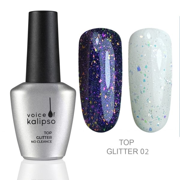 TOP GLITTER WITHOUT STICKY LAYER TOP GLITTER 02, 10 ML