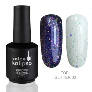 TOP GLITTER WITHOUT STICKY LAYER TOP GLITTER 02, 15 ML
